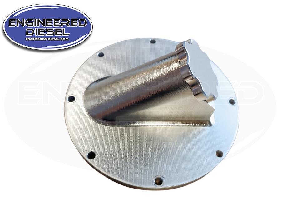 Billet oil fill adapter for billet gear housing 12v/24v